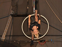 Kristi performing a Hoop routine in our IPC Rock Show