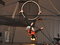 Student performing a Lyra routine in an IPC Show